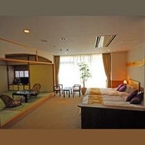 バリアフリー特別室部屋。ツインベッドと8畳の和室がついています。(*^^)v楽天500