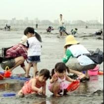松阪松名瀬海岸の潮干狩り。春はたくさんの人で賑わうよ!楽天500