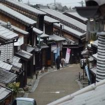 関宿の街並み 東海道53次の宿場町。昔のままだね!(*^_^*)楽天500