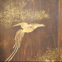 350年前の木の屏風表側。おちついた雰囲気で見応えがあります。楽天500