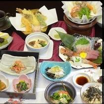 和食会席料理のイメージ。季節によって内容は変わります。(*^^)v楽天500