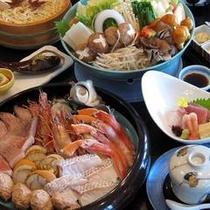 夕食一例【魚介鍋】