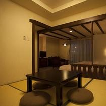 足を伸ばしてくつろげる和洋室 【2ベッド+和室4.5畳】約40㎡