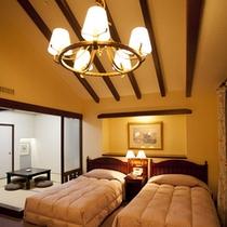 広々とした和洋室 【2ベッド+和室4.5畳】約40㎡