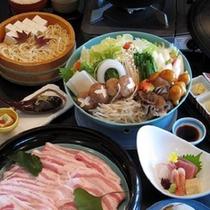 夕食一例【創作豚鍋】
