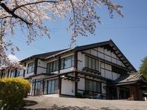 羽広荘 外観【春】