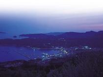 鮎川港の夜景