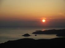 コバルトラインより見た夕日②