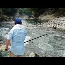 【渓流釣り】