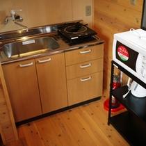 *【お部屋設備】ミニキッチンもあるので、簡単なお料理は作れます♪