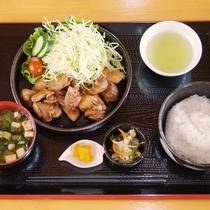 【人気NO.ワン】ご当地名物とんちゃん定食(味噌風味の焼肉)