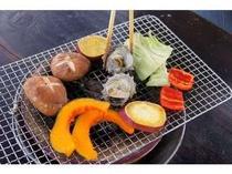 炭火焼は野菜の甘みも引き立てます。