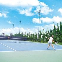 *【屋外テニスコート】デコターフ社の施工によるUSオープン仕様のハードコート。