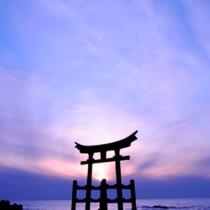 *金毘羅神社/海に浮かぶ鳥居は神秘的!パワースポットとしても親しまれています。