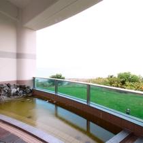 *露天風呂一例/日本海の水平線を目の前に、解放感あふれるロケーションで温泉を満喫!