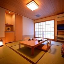 天然温泉付客室「夢人の海」客室の一例