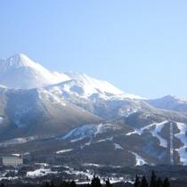 青森スプリング・スキーリゾートと岩木山
