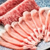 【米沢牛・米沢一番育ち豚の合盛り】