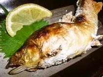 【料理】鮎の塩焼き