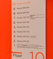 【フロアー案内】館内各階