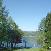 *【周辺】信州・青木湖/当館敷地内には湖につながる桟橋がございます。