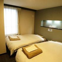 *【ツイン/一例】セミダブルサイズのベッドを採用!寝返りも楽々♪
