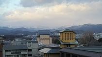雪化粧の北山方面