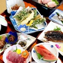 *夕食一例(旬の田舎料理)