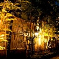 竹:ライトアップ