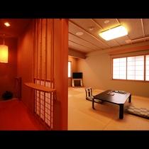 【特別室】ちょっと贅沢に温泉旅を・・・広々とした空間と内湯付の客室