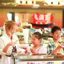■寿司コーナーでは金目、鯛、よりどりみどり