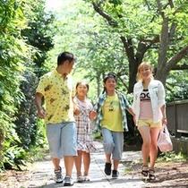 ■家族で松川遊歩道を散歩