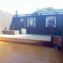 *【露天風呂】かぐやの湯。開放的な空間で温泉を満喫。