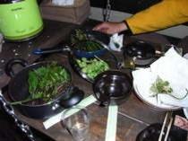 山菜を調理