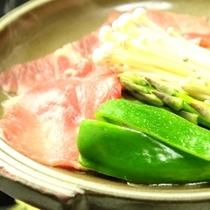 料理_夕食_陶板焼き