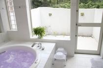 浴室(貸切風呂)のパティオ