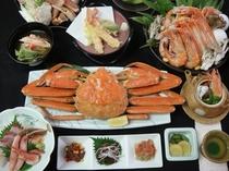蟹宝楽焼と姿蟹一枚付