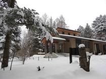 施設 エントランス冬景色14