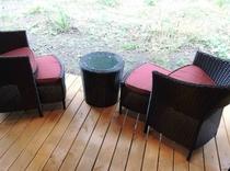 館内 Room1/Room2/Room3ツイン洋室用のテラス椅子セット