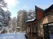施設 前庭冬景色
