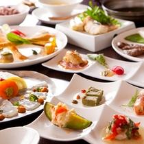【ご夕食 一人前】70品目の食材を優しさをテーマに‥女将セレクトのJAZZと共に
