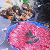 【松茸すき焼き】松茸×極上黒毛和牛で贅沢すき焼き♪