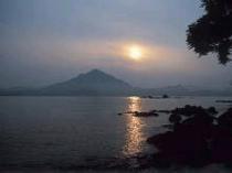 青葉山の夕陽