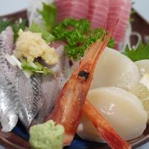 新鮮な海の幸を使ったお食事(一例)