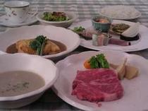 6.山陰の旬の素材を使ったフルコースディナー(料理例)
