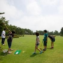 【グラウンドゴルフ】三世代みんなで楽しめます。