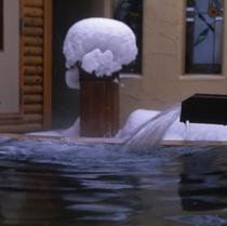冬のヒノキ風呂