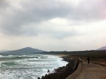 冬の芥屋海岸