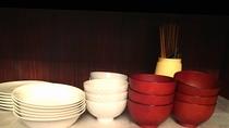 ペントハウスルーム☆食器も一式揃ってます♪