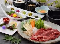 国産牛すき焼き膳(夕食一例)/レストラン